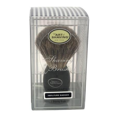 Pure Badger Shaving Brush - Black by The Art of Shaving for Men - 1 Pc Shaving Brush