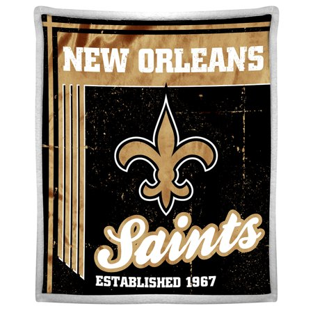"NFL New Orleans Saints ""Old School"" 50"" x 60"" Mink Sherpa by"