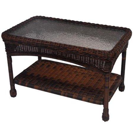 Premium 29 x 175 resin wicker coffee table white color for White resin wicker coffee table