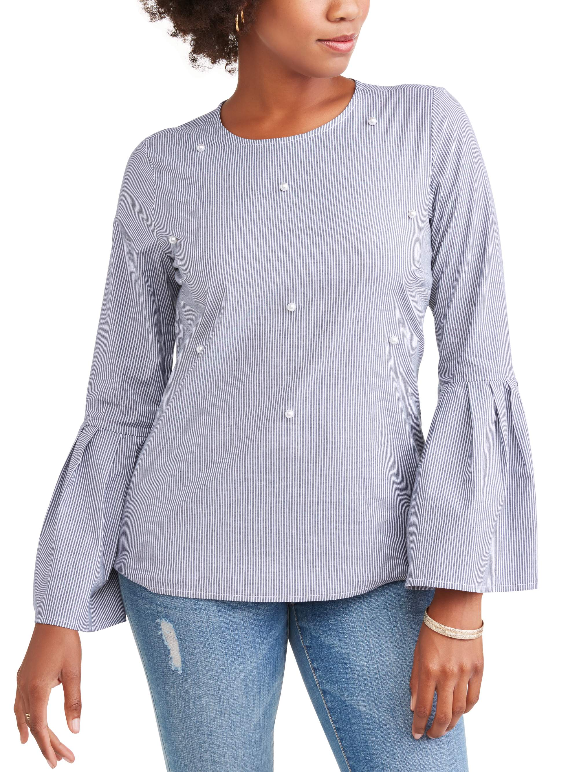 Time and Tru Women's Pearl Front Top by SHAHI EXPORTS PVT LTD