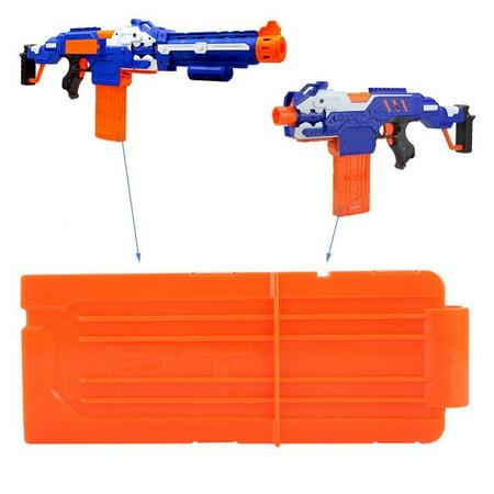 WALFRONT EVA Soft Bullet Clip Darts Plastic Gun Toy 6 Bullets Ammo Cartridge Dart Gun Clips(Opaque Orange), Toy Gun Accessory, Toy Gun Clip (Plastic Toy Guns)