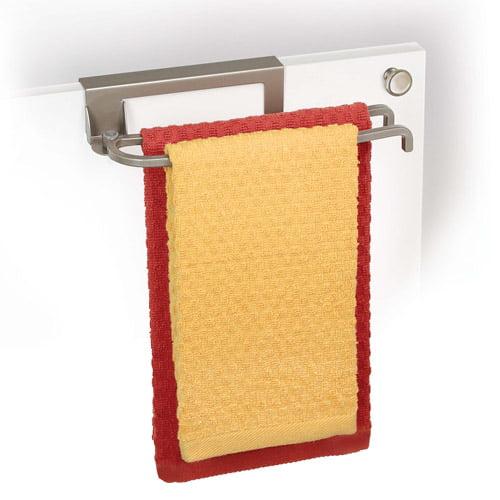 Lynk Over Cabinet Door Pivoting Towel Bar Satin Nickel by Lynk
