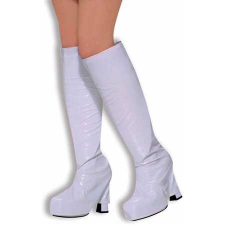 White Disco Go-Go Dancer Costume Boot Top Covers