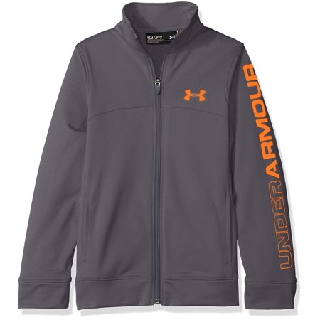 best service e1d13 657b5 Under Armour - Under Armour Youth Boys  UA Pennant Warm Up Jacket 1281069  Graphite Magma Orange - Youth Large - Walmart.com
