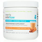 Milkflow Fenugreek + Blessed Thistle Powder Mix, Breastfeeding Supplement, Chai Latte