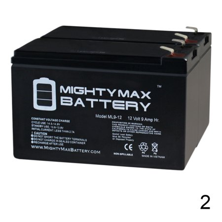 12V 9Ah SLA Battery for All-O-Matic SL-100-DC Sliding Gate - 2