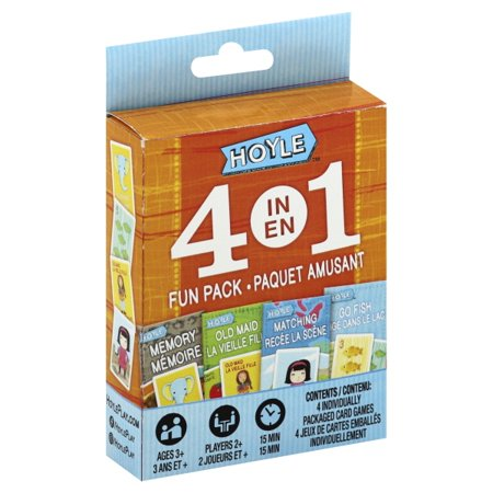 4-in-1 Bilingual (French English) Card Games-Memory, Old Maid, Go Fish, Matching