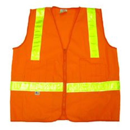 Orange Mesh Surveyors Vests Class 2 with Lime Stripes - 2X-Large, Designed for traffic areas between 25 mph - 55 mph By IronHorse