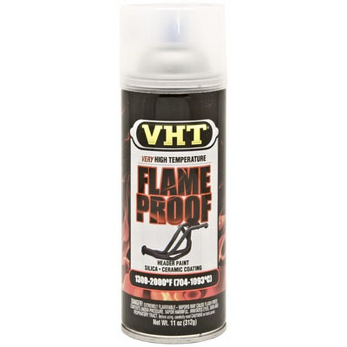 Duplicolor SP115 VHT Flameproof Coating Paint, Satin Clear, 11 Oz Can, Withstands Temperatures Up To 2000 F