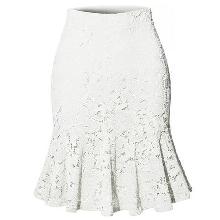 Elastic Waist Slim Tight Office Ladies Work Wear Skirt