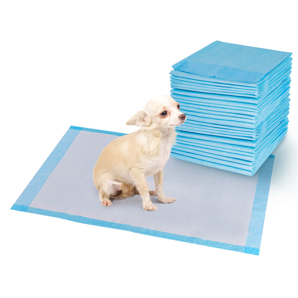 Costway 100 PCS 30''x 36'' Puppy Pet Pads Dog Cat Wee Pee Piddle Pad training underpads