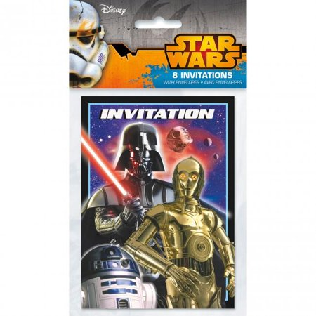 Star Wars Invitations [8 Per Pack]
