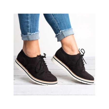 Womens Sneakers Casual Breathable Tennis Trainers Lace Up Athletic Shoes