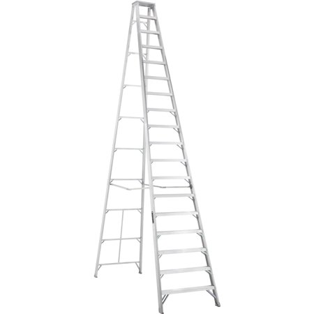 Louisville Ladder As1018 18 Ft  Aluminum Step Ladder  Type Ia  300 Lbs Load Capacity