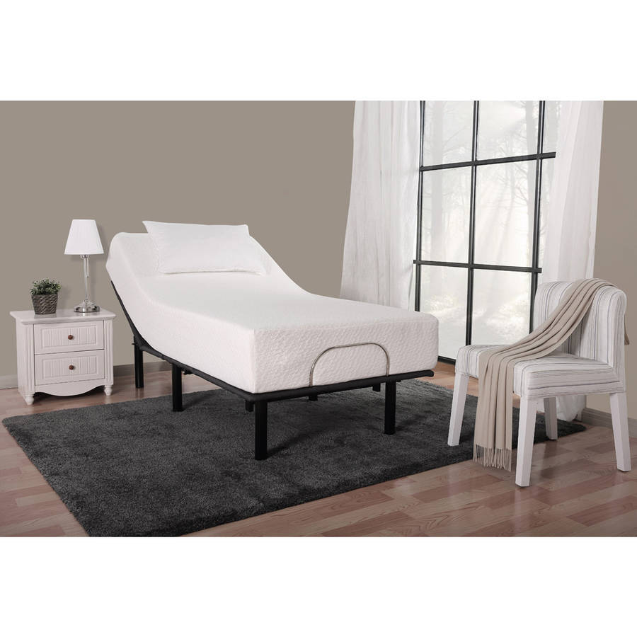 "Mainstays 13"" Adjustable Steel Bed Frame, No Tool Assembly, Twin-XL"