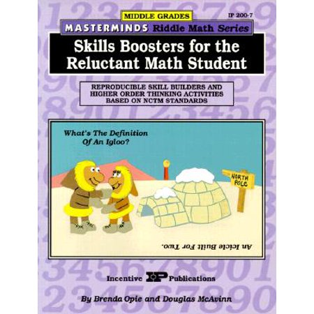 Masterminds Riddle Math for Middle Grades: Skills Boosters for the Reluctant Math Student : Reproducible Skill Builders and Higher Order Thinking Activities Based on Nctm Standards