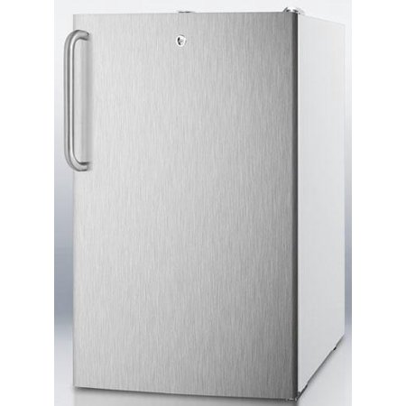 Cm411lbisstbada 20 Medically Approved   Ada Compliant Compact Refrigerator With 4 1 Cu  Ft  Capacity  Professional Towel Handle  Interior Light And Crisper Drawer  In Stainless Steel