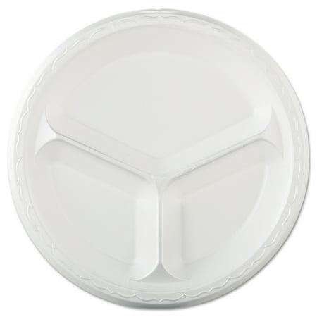 (Genpak Elite White Laminated 3-Compartment Foam 10 1/4