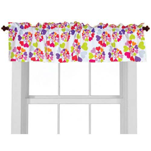 Room Magic Heart Throb 57'' Curtain Valance