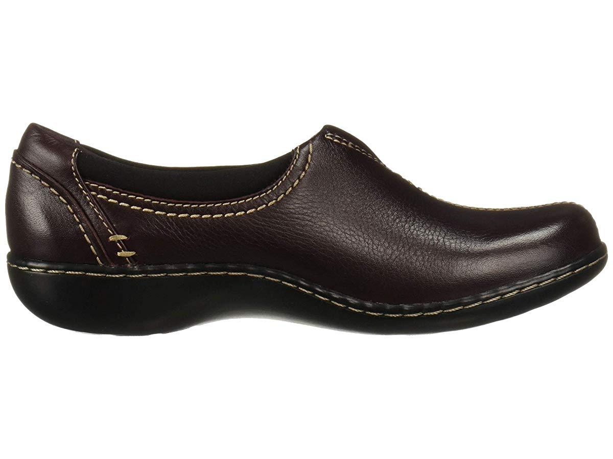 Clarks Ashland Joy Burgundy Leather