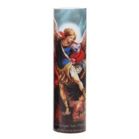 LED Prayer Candle, St Michael - Candle Prayer