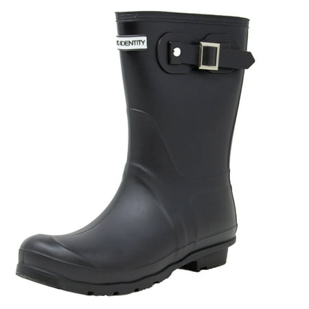 Exotic Identity Original Short Rain Boots - 7M - Matte Black - Hunter Boots With Lining