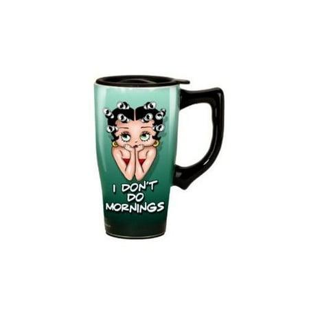 Betty Boop: I Don't Do Mornings Travel Mug