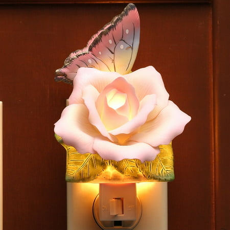 Peace Sign Night Light (Cosmos Gifts Butterfly with Peace Rose Night)