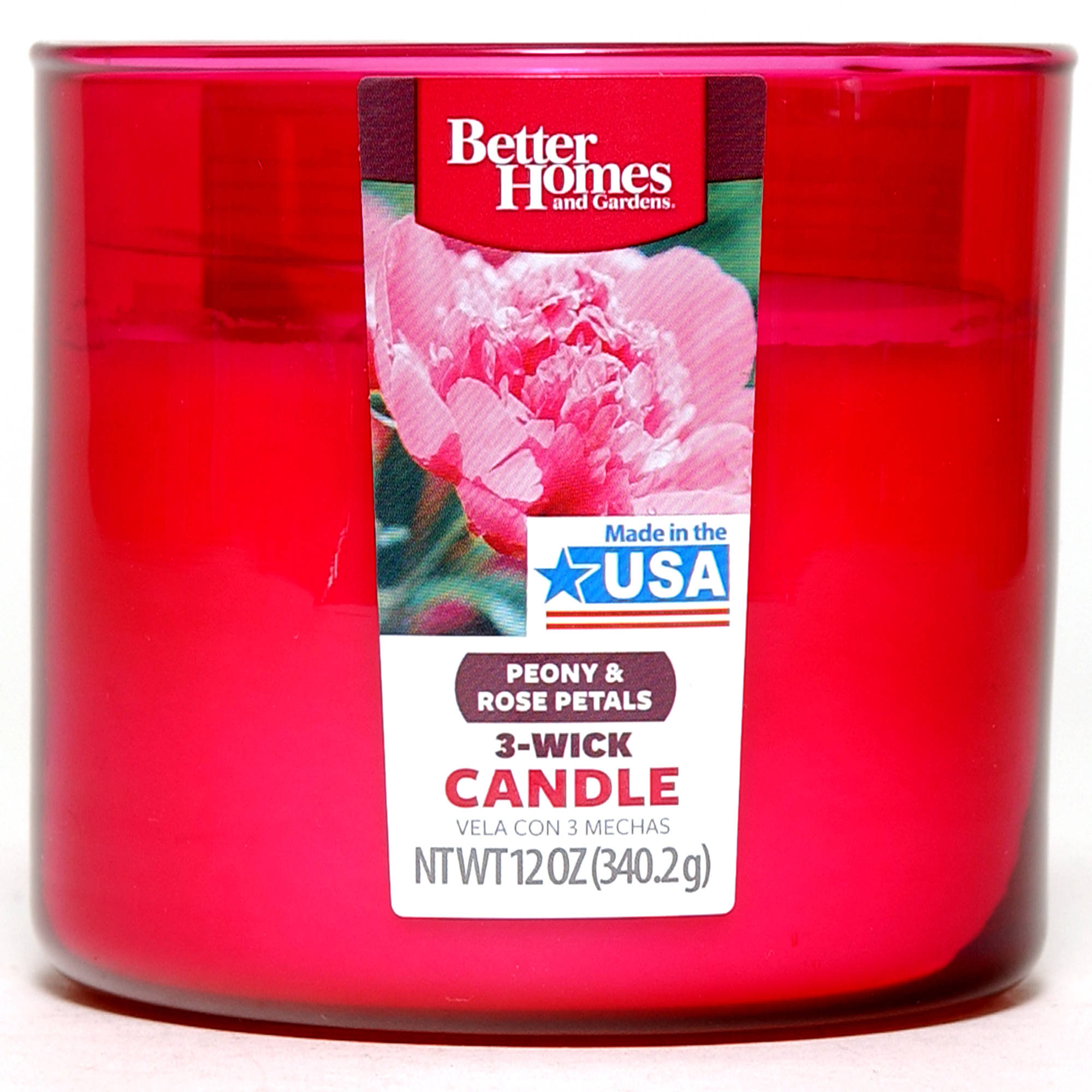 Better Homes and Gardens 12-Ounce Candle, Peony and Rose Petals