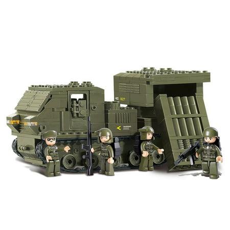 US Army Mobile SAM Bazooka Military Vehicle Building Blocks Educational Bricks Toy Fits (Building Brick Toy)