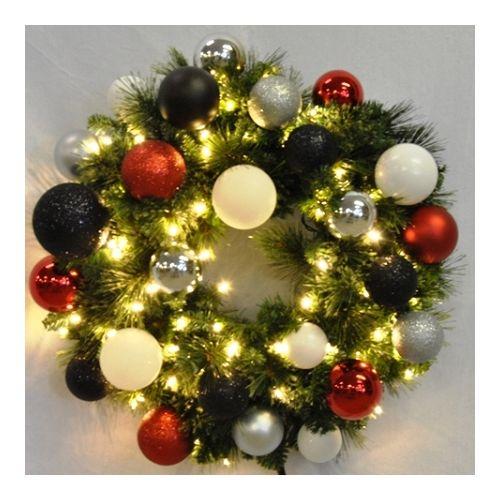 Christmas at Winterland WL-GWSQ-02-MOD-LWW 2 Foot Pre-Lit Warm White Sequoia Wre
