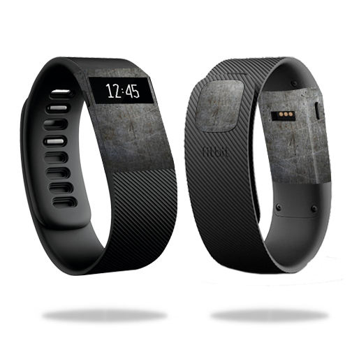 MightySkins Skin for Fitbit Charge 3 - Black Diamond Plate | Protective, Durable, and Unique Vinyl Decal wrap cover | Easy To Apply, Remove, and Change Styles | Made in the USA
