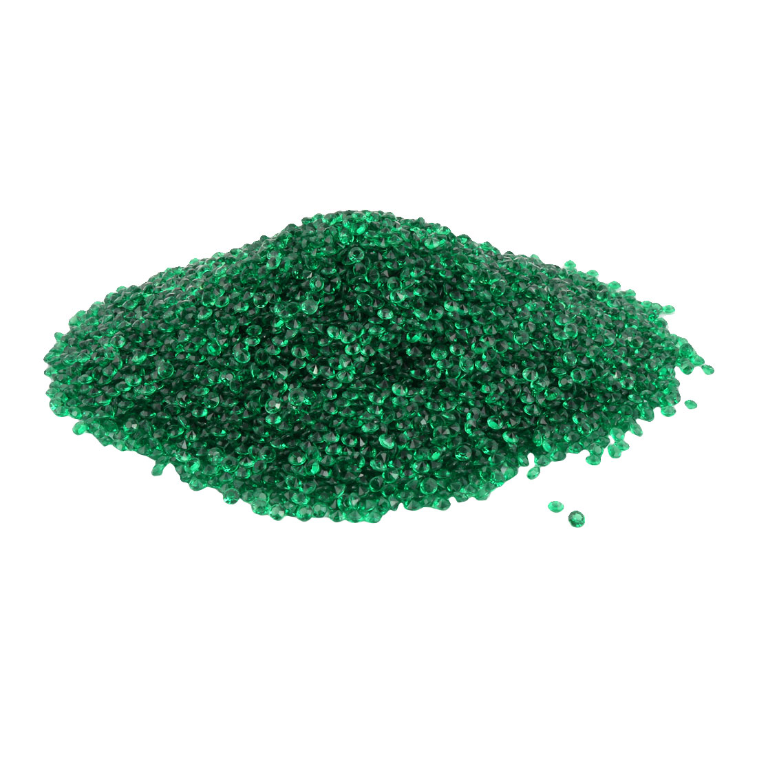 Plastic Crystal Confetti Wedding Party Decoration Green 4.5mm Diameter 10000 Pcs