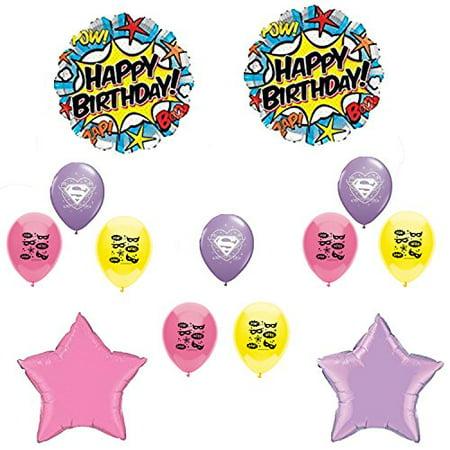 Supergirl Happy Birthday Balloon Decoration Kit for $<!---->