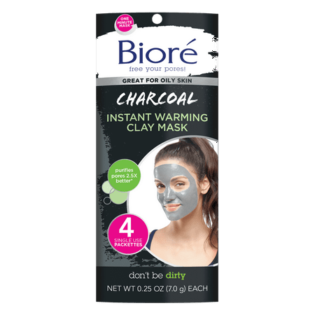 Biore Charcoal Instant Warming Clay Mask (4