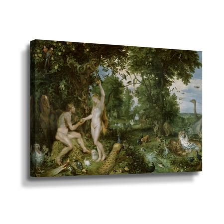 Red Eden Art - ArtWall Pieter Bruegel The Garden Of Eden With The Fall Of Man Wall Art