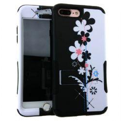 Hopper Case. Black&White Flowers Snap&Black Skin