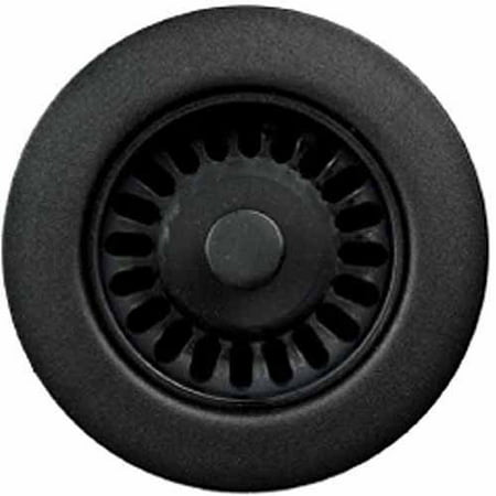 Houzer 190-9265 Sink Strainer for 3.5-Inch Drain Openings, Matte Black