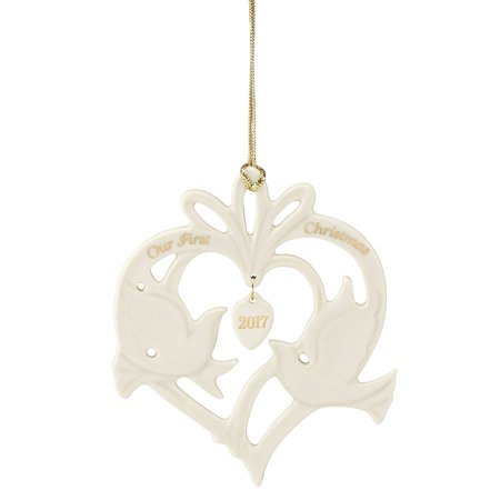2017 Lenox Our First Christmas Together Doves Porcelain Tree Ornament 869903 New