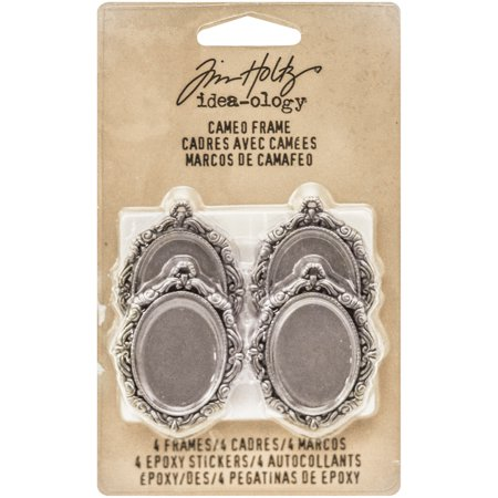 "Idea-Ology Cameo Frames, 1"" x 1.5"", 4pk, Antique Nickel"