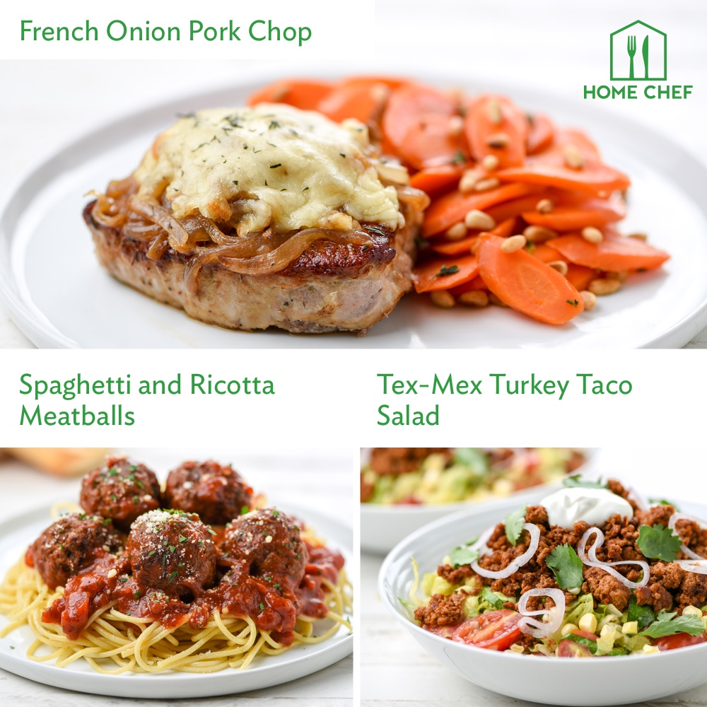 Home Chef Meal Kits, Supper Dinner for 2. 3 Meals