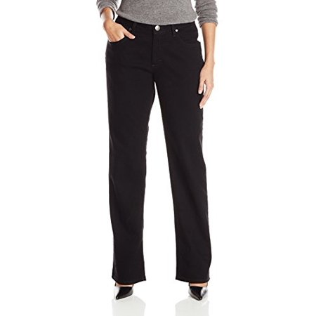 Riders by Lee Indigo Women's Relaxed Fit Straight Leg Jean, Black, 18