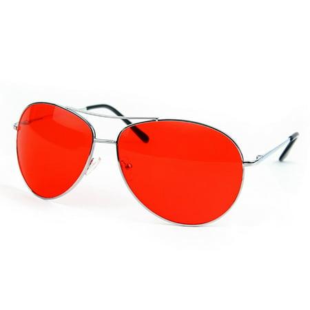 POP Fashionwear Metal Sunglasses Classic Aviation X-Large Size Spring Hinge (Aviation Sunglasses Review)