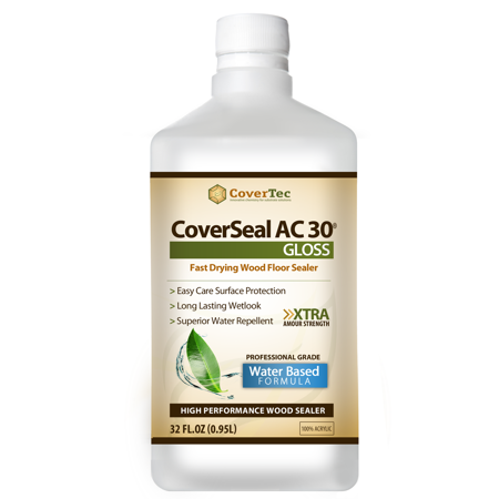 Surface Tile Sealer - CoverSeal AC30 Gloss Wood Sealer, Tile and Hard Surfaces, Water Based, UV Resistant (1 Qrt - Prof Grade)
