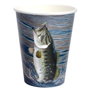Gone Fishin' 12 Oz. Cups (8 Pack) - Party Supplies