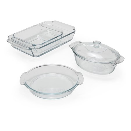MoDRN Premium Clear Glass Bakeware, 5 Piece Set