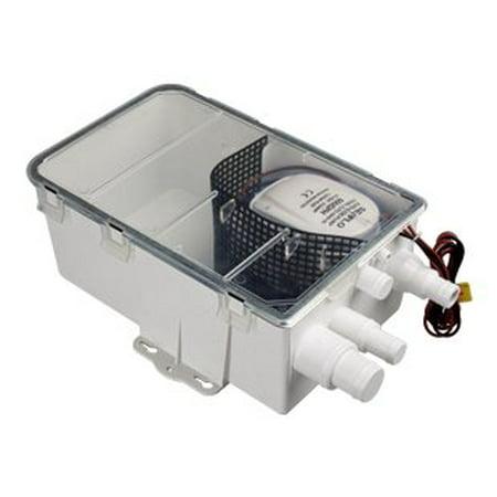 Drain System - Seaflo Boat Marine Shower Sump Pump Drain Kit System - 12v - 750 GPH - Multi-port Inlet