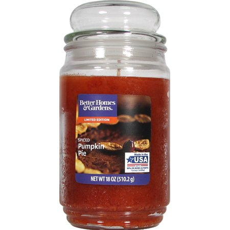 Better Homes & Gardens 18oz Spiced Pumpkin Pie Scented Candle 15 Oz Scented Candle
