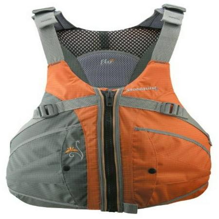 - Stohlquist Women's Flo Life Jacket/Personal Floatation Device (Orange/Gray, X-Small/Small)