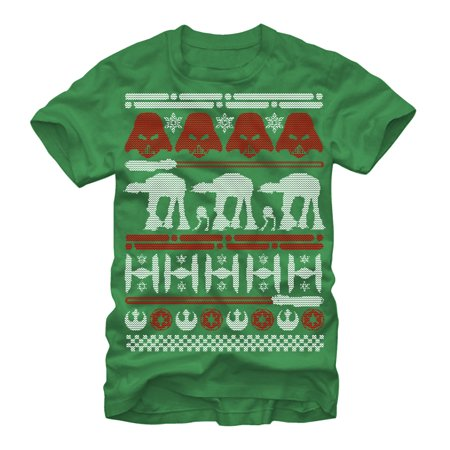 Star Wars Men's Ugly Christmas Sweater T-Shirt (Ugly Christmas Sweater Star Wars)